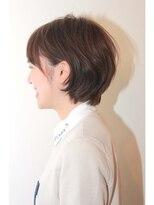 マニッシュ系のチェスナットカラーのマニッシュショートヘア♪画像