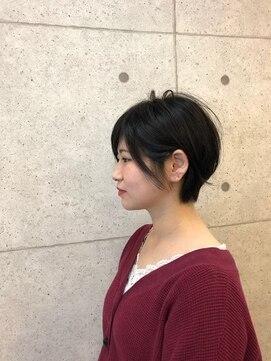 ヘアーデザイン ハック(HAIR Design HaC)【HaC】 ラフショート×カーキアッシュ