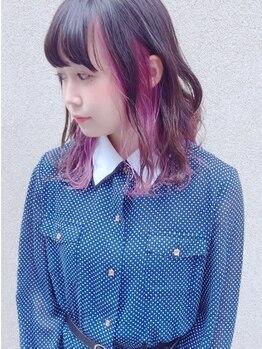 ピチカート(pizzicato)の写真/【ハイトーン/インナーカラー】赤みを抑えて、溢れる透明感/ツヤ/柔らかな髪質が手に入る☆その秘密は…?