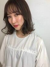 ヘア プロデュース キュオン(hair produce CUEON.)重め切りっぱなしボブ×サイドバング×ショコラブラウン