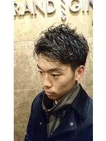 バルビエ グラン 銀座(barbier GRAND)ツーブロックのメンズパーマ <理容室>