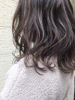 エンヘアー(en hair)ラベンダーカラーで作るバレイヤージュハイライト◎