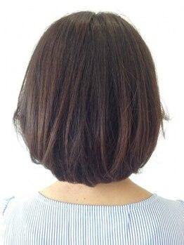 サロン ド リッセ(salon de Lisser)の写真/【ダメージレス和漢カラー】染めるたびに髪が美しく♪ダメージレスでハリ・コシ・ツヤ◎おしゃれ染めもOK!
