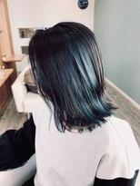 コネクトヘア(CONEKT hair)攻め気味インナーブルーカラー☆