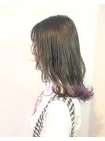 ヘアメイク オブジェ(hair make objet)グレージュ×パープル