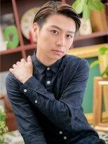 """*+COVER HAIR+*…""""ツーブロックx七三""""の好感モテショートa"""