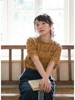 ヘアカラーカフェ 霞ヶ関店(HAIR COLOR CAFE)ネジってとめたシンプルなアレンジ