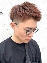 レーヴ(Reve)men's刈り上げshort style×orange color【レーヴ】