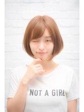 セシルヘアー 沖縄小録2号店(Cecil hair)ピンクアッシュボブ_ヴェールウェーブブルージュ