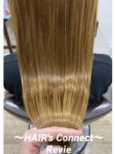 ヘアーズ コネクト レヴィー(HAIR's Connect Revie)【Revie極上美髪トリートメント】潤い感◎ツヤ感UP手触り◎