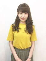 エトネ ヘアーサロン 仙台駅前(eTONe hair salon)【eTONe】ミルクティーベージュのセミロング