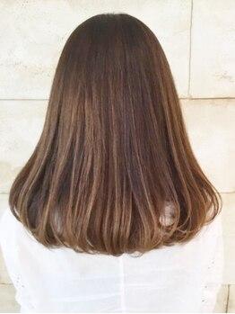 フランジ(Frange)の写真/30代からの髪のお悩みに寄り添う、大人の女性の為のサロン。[カット+縮毛矯正+トリートメント¥9720]