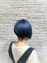 ビス リアン 川口店(Vis lien)ハンサムショート/ブリーチ/ブルーブラック/前下がり/前髪/小顔