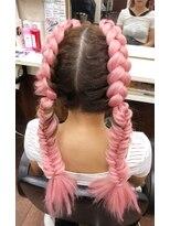 編み込みヘアーセット