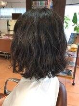 レフ ヘア デザイン(Reff.hair design)切りっぱなしボブ × パーマ