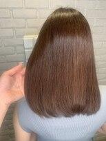 レッドネオ エビス(Redneo ebisu)さら艶縮毛矯正+透明感カラー