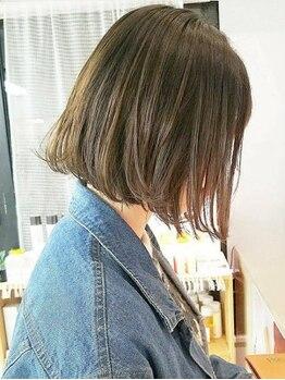 ヘアメイク ノワール(hair make noir)の写真/印象を左右する、重要な前髪のカットもお任せ下さい♪【前髪カット¥540】でいつでも可愛く♪