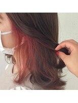 サラ ビューティー サイト 古賀店(SARA Beauty Sight)コーラルピンクインナーカラー