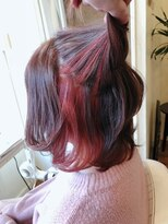 【Aile Hair】冬髪★violet brown★inner red