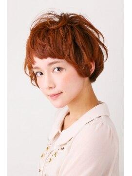 美容室カラー(COLOR)くしゅカワショート~ゆるめパーマで柔らかヘアー~
