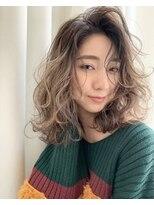 ギフヘアー 梅田茶屋町店(gif.hair)かき上げグレージュグラデーション