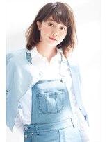 ミンクス 原宿店(MINX)【似合わせカット】大人カジュアル×くびれミディ×ブルージュ