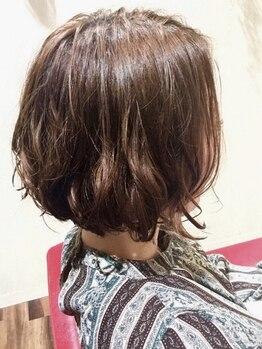 髪結いレーヴ(Reve)の写真/《健康髪☆艶&ボリュームUP天然由来成分80%のオーガニックカラー》肌ツヤも素敵に魅せる似合わせカラー◎