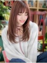 *+COVER HAIR+*…ガーリーピンク★小顔カジュアルロングc