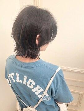 モリオフロムロンドンココサ 下通店(morio)【morio下通】2019秋冬流行黒髪耳かけマッシュウルフ♭