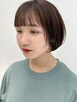 テトヘアー(teto hair)丸みショートボブ 春カラー