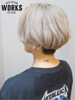 ワークス ヘアデザイン(WORKS HAIR DESIGN)インナーカラーホワイトベージュショートボブヘア