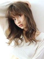 アルバム シンジュク(ALBUM SHINJUKU)ラフウエーブ_セミウェットウェーブオリーブカラー_38093