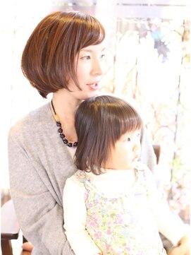 ヘアーデザイン リント(hair design Rinto)大人ボブ|親子撮影