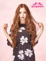 エクステ市場 渋谷本店 カラーランドエクステ+センターパート上品な巻き髪スタイル【丸山慧子】