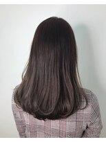 ギフヘアー 梅田茶屋町店(gif.hair)ナチュラルビューティー【艶ラベンダーブラウン】