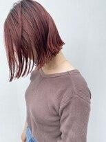 ナチュラルな赤髪