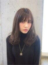 ユーレルム(U-REALM)シースルーバングのガーリーセミロング☆