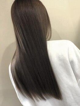 オルヘアー('olu hair)の写真/【超音波アイロン(ケアプロ)を使ったシステムトリートメント】で触らずにはいられないサラサラヘアに!