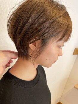 オルヘアー('olu hair)の写真/【360度どこから見ても可愛いスタイルが叶う*】細部にまでこだわるカット技術で叶えるショートヘア♪