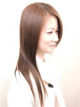 バール銀座 五香店(BAAL)の写真/つやつやのナチュラルストレートヘアーは女性の憧れ!高い技術力で毛先までまとまる♪お手入れも楽に☆