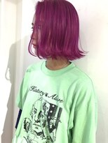 チクロヘアー(Ticro hair)ticrohair大石ピンクパープル