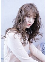 アルマヘア(Alma hair)フォギーベージュ☆/大人かわいいフリンジウェーブ