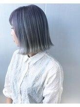 ヘア ラボ ニコ 藤沢店(hair Labo nico...)ケアブリーチ3回のオーロラカラー
