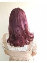 ヘアメイク オブジェ(hair make objet)ロングpink