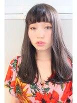 ジル ヘアデザイン ナンバ(JILL Hair Design NAMBA)【大人可愛いセミロング】ふわっと透明感グレージュ☆