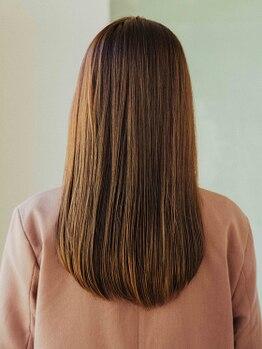 キュレア(C..ure.are)の写真/サラサラ、ツヤツヤ、柔らかい…美髪チャージ髪質改善トリートメント