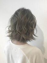 フレイムスヘアデザイン(FRAMES hair design)☆透明感漂うミントベージュ×ボブディ☆