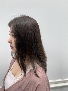 六本木美容室 白金店赤みゼロ透明感カラー