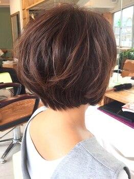 ジェラートへアー(gelato hair)の写真/【京成八幡駅30秒★】ミネラルたっぷりな話題の「フルボ酸カラー」でハリのある艶やかな仕上がりに♪