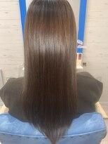 スローライフヘアーデザインアンドスパラウンジ(Slow life Hair design spa lounge)潤ツヤロング 高濃度水素質感矯正ミネコラ+アディクシーカラー